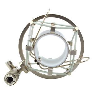 Silver Microphone Shock Mount Clip Holder For MXL Large Diameter Condenser MIC