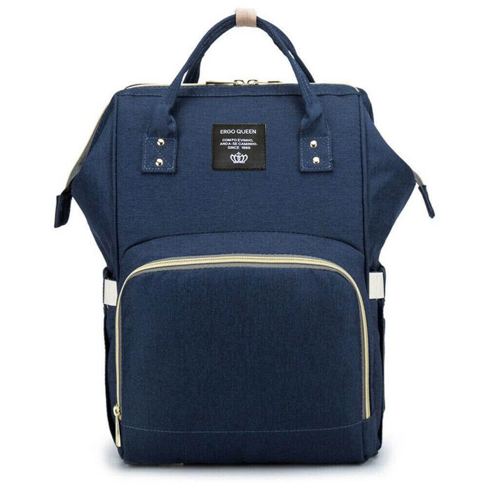 Ergo Diaper Bag Backpack Mummy Maternity Nappy Large Capacity Baby Bag Travel  Navy