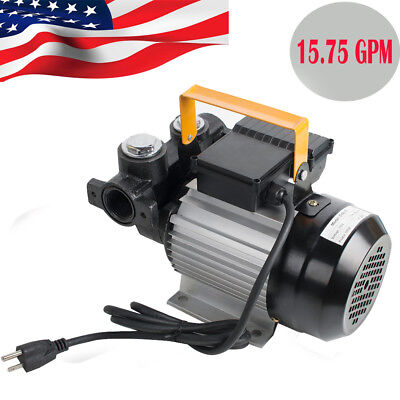 15.75gpm 550w Portable Electric Diesel Oil And Fuel Transfer Pump Motor Hot Sale
