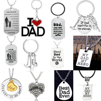 Fathers Day Gifts For Dad Birthday Jewellery Necklace Keyring Bracelet Daddy New - Birthday Necklaces