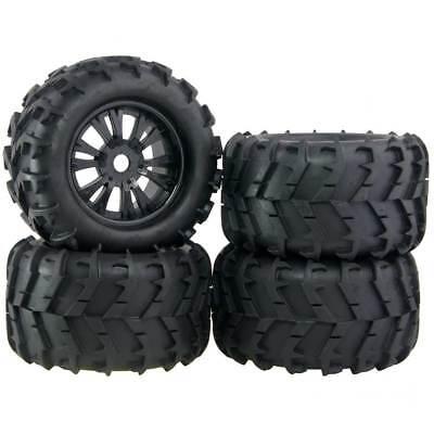 4x RC Car Off Road 1:8 Scale Monster Truck Bigfoot Tyre Tires 17mm HEX Wheel Rim