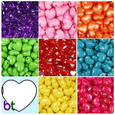 BeadTin Valentine 18mm Large Heart Pony Beads (24pcs) - Style choice](Large Plastic Beads)