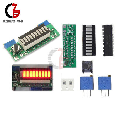 3.7v Lm3914 Module Li-ion Battery Capacity Power Level Red Led Indicator Display