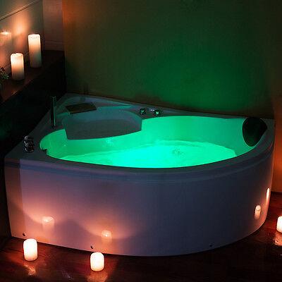 Modern 1500 Whirlpool Massage Jacuzzi Corner Bath Shower Spa Bathtub Model:1510L