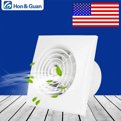 "Hon&Guan 4"" 100-120V Mini Exhaust Fan Ventilation Extractor For Kitchen Bathroom"