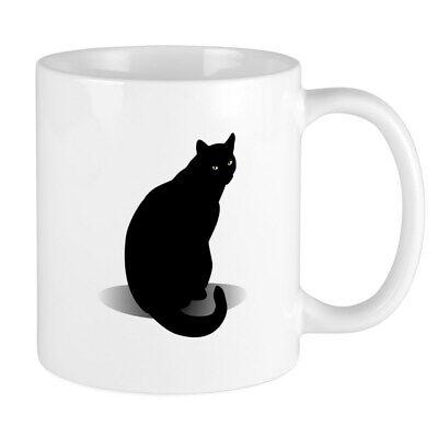 CafePress Basic Black Cat Mug 11 oz Ceramic Mug (302638643) Black Cat Coffee Mug