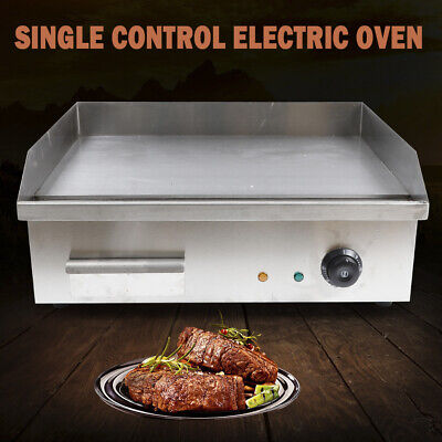 3000w Electric Griddle Cooktop Countertop Commercial Flat Top Grill Bbq Plate