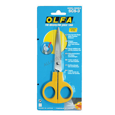 OLFA  Serrated Edge Stainless Steel Scissors SCS-3