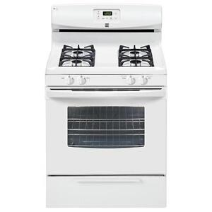 Kenmore Gas Range: oven and stove