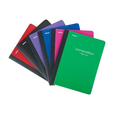 Staples Poly Composition Notebook 9.75 X 7.5 College Ruled 70 Sh Asst 126464