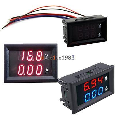 Dc100v 10a Voltmeter Ammeter Bluered Redred Led Digital Volt Meter Gauge Us