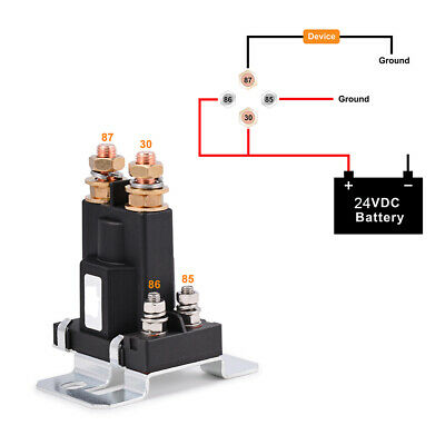 High Current Dual Battery Start Relay Isolator 4 Pin 500a 12v Car Power Switch