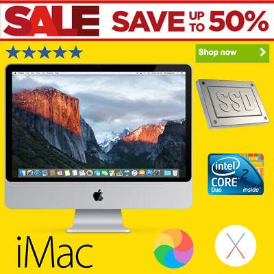 Apple iMac 20-inch 4GB RAM Core 2 Duo 2008 Faster 120GB SSD Free Office 2011