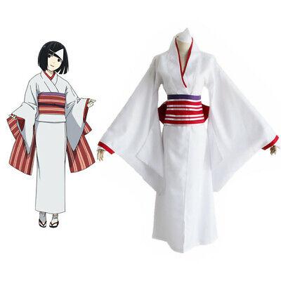 Noragami Nora Hine Kimono White Yukata Robe Cosplay Costume Anime With Wig (Noragami Nora Kostüm)