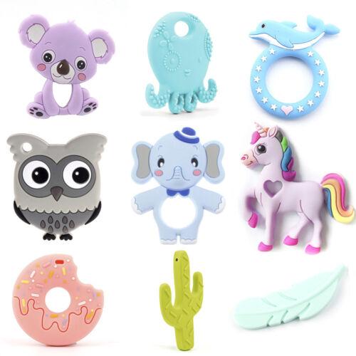 Silicone Elephant Unicorn Octopus Teether Teething DIY Baby Chewelry Sensory Toy
