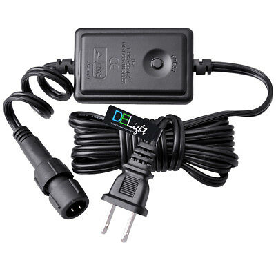 DELight® 9FT 2 Wire Multi Flash Controller Power Cord 110V LED Rope Light ()