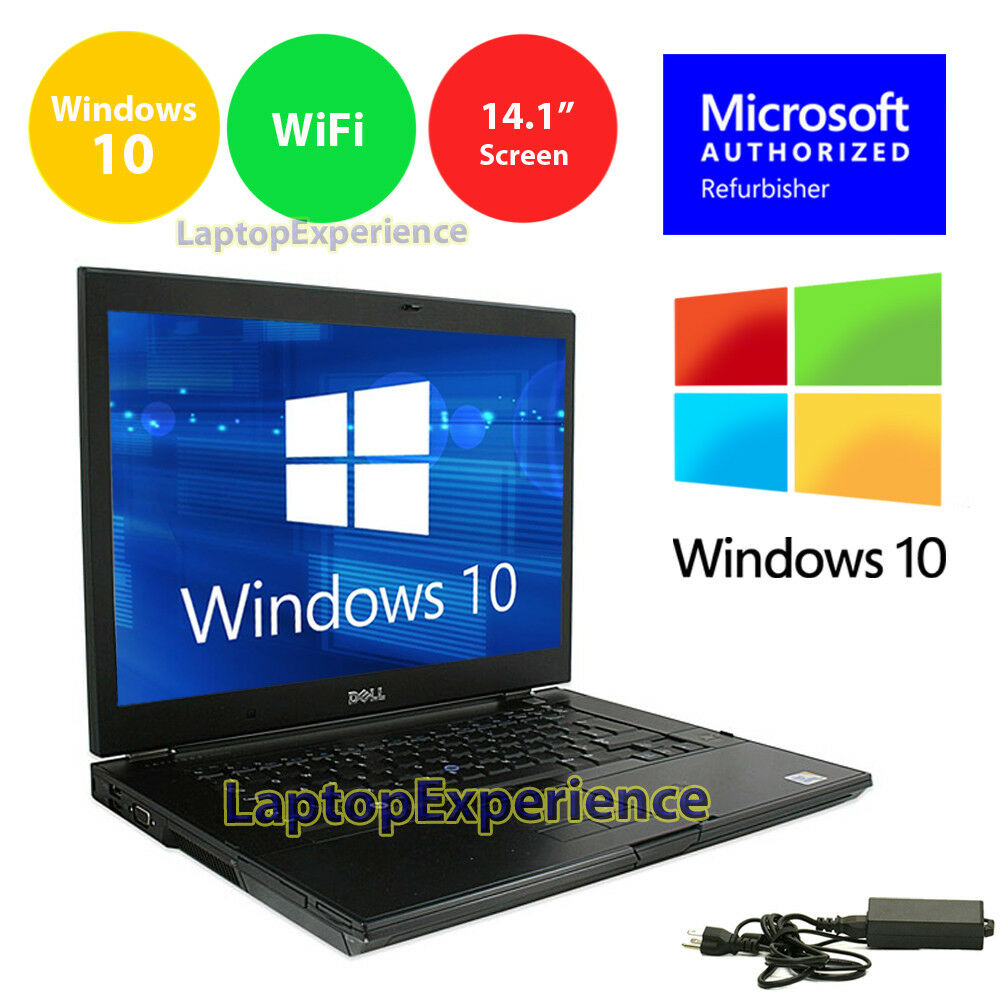 "Laptop Windows - DELL LATiTUDE LAPTOP 14.1"" HD WIDESCREEN COMPUTER WINDOWS 10 INTEL CORE DUO 2GHz"