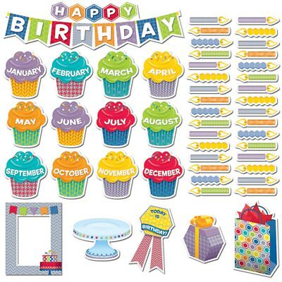 HexaFun Happy Birthday Mini Bulletin Board Set Creative Teaching Press CTP6958