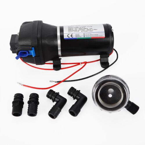 12V 40psi Hochdruckpumpe Druckwasserpumpe Membranpumpe Wasser Pumpe 4.5GPM NEU