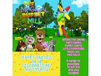 The Magical Puppet Mill - kids interactive puppet shows, puppet crafts and party game entertainment