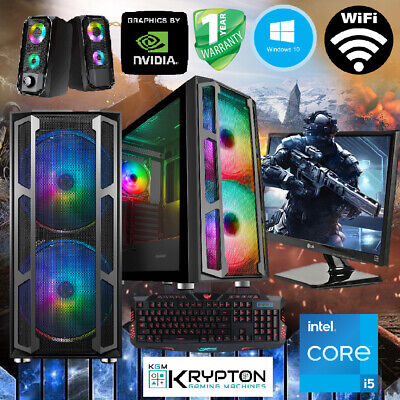 ULTRA Gaming PC Bundle Intel Core i5 8GB 128SSD+1TB Win10 GT 710...