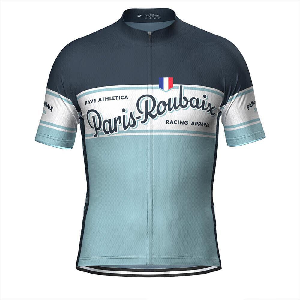 PAVE Paris Roubaix Retro Cycling Jersey cycling Short Sleeve Jersey