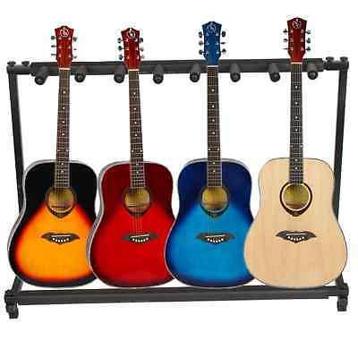 7 Triple Folding Multiple Guitar Bass Holder Rack Stand