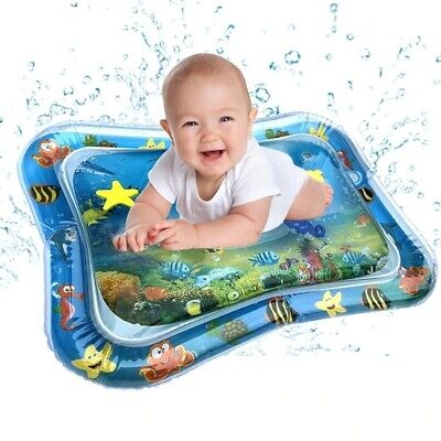 Baby Kids Water Play Mat Inflatable Infant Tummy Time Playmat