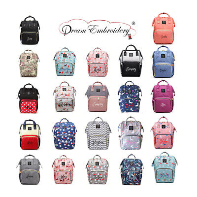 Personalized baby Diaper bag knapsack /Backpack monogram mommy bag baby bag -