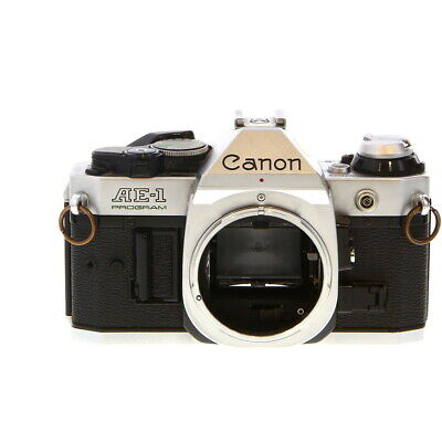 Canon AE-1 Program Chrome 35mm Camera Body, Made in Japan - UG