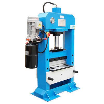 "Electric 30 Ton Hydraulic Press Brake Bender Bending 3 Phase 220V- 18.5"" x 5/16"""