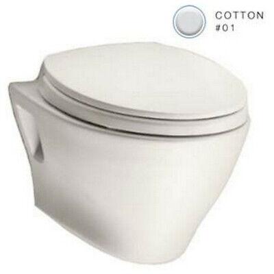 TOTO CT418FG#01 Aquia Wall Mount Toilet Bowl (Cotton White) CT418FG-01 New ()