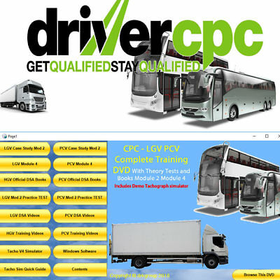 LGV HGV PCV Driver Training CPC Module 2 & 4 Case Study Plus DSA Theory Test DVD