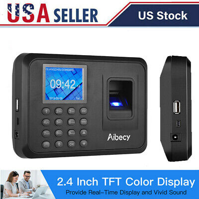 Biometric Fingerprint Checking-in Attendance Machine Employee Time Clock Us N2o1