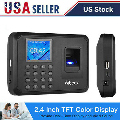 Biometric Fingerprint Checking-in Attendance Machine Employee Time Clock Us N2o1