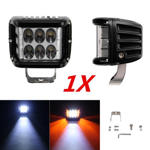 4 inch LED ATV Bike Work Light Combo White /Amber Strobe Fog Lamp DRL Waterproof