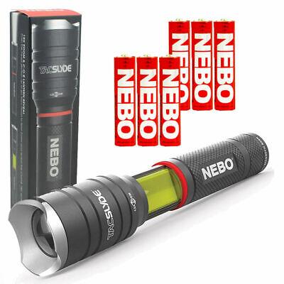 NEBO 6746 Tac Slyde 300 Lumen LED Flashlight / Work Light w/ 3 Extra Nebo AAA