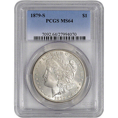 1879-S US Morgan Silver Dollar $1 - PCGS MS64