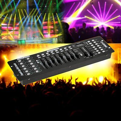 192CH DMX512 Stage Lighting Console Controller Laser DJ Light Disco Lamp Party
