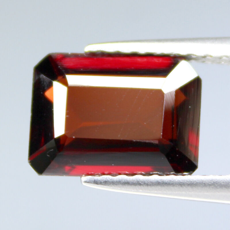 CERTIFIED 2.32Cts Natural Almandine Garnet Red Octagon Gemstone SEE VIDEO