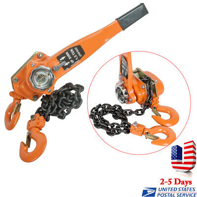 1.5 Ton 3000lb Capacity Chain Lever Block Hoist Come Along Ratchet Lift Us Stock