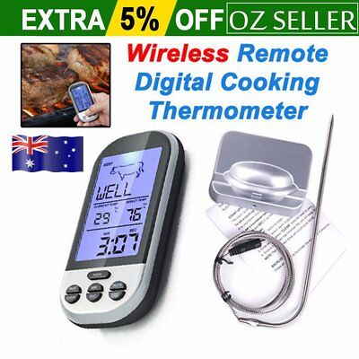 Digital Wireless Barbecue BBQ Meat Thermometer Remote Grill Cooking Food CUC