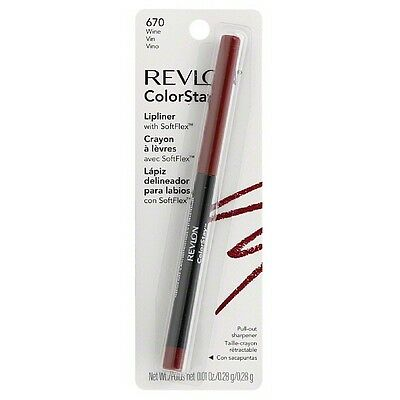 Revlon ColorStay Lipliner with SoftFlex, Wine 670, 0.01 Ounc