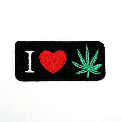 I love Weed Ganja Leaf Retro Hippie Hobo Reggae DIY Clothing Jean Iron on patch](Diy Hippie Clothes)
