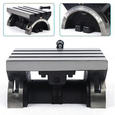 12mmtilting Table Swivel Angle Plate Metalworking For Milling Machine Adjustable