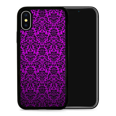 Damask Pattern - Protective Phone Case Cover fits iPhone SE 5 6 7 8 X 11 Pro Max