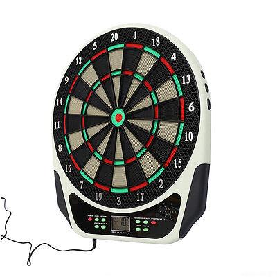 Professional Dartboard Set w/ LED Screen Electronic Dart Board 21 Games New