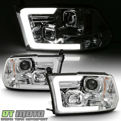 2009-2018 Dodge Ram 1500 2500 3500 LED Light Tube Projector Headlights Headlamps
