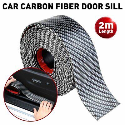 Car Carbon Fiber Blue Edge Guard Strip Door Sill Protector Accessories 3CMx2M