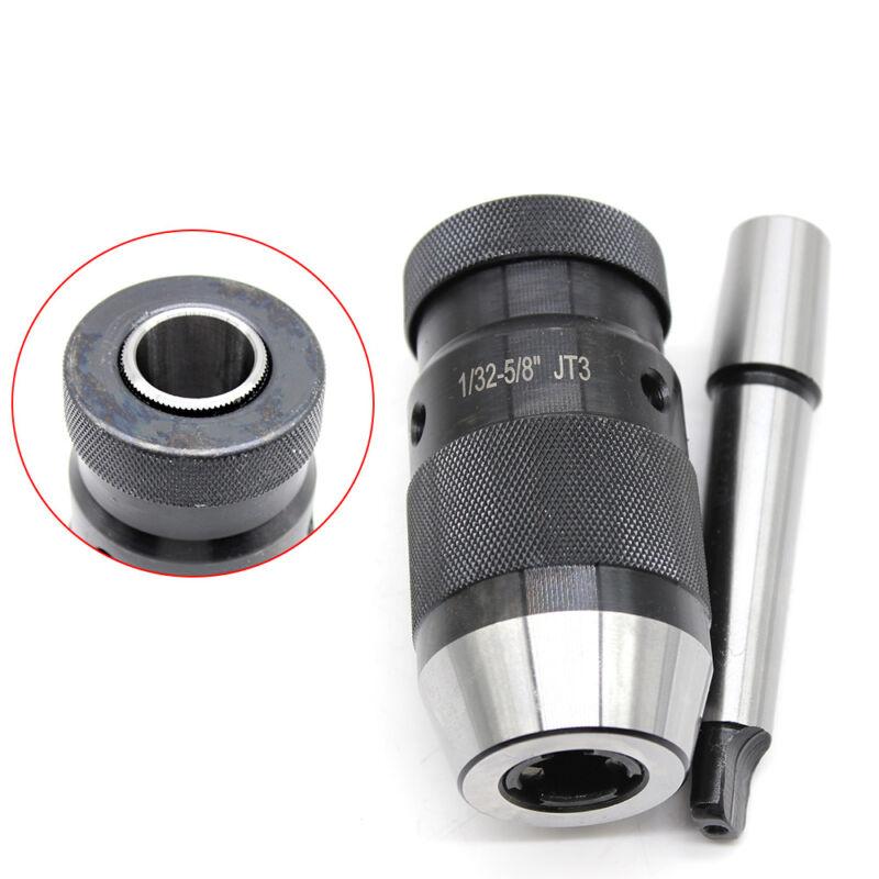 """Drill Press Keyless Chuck - 1/32-5/8"""" JT3 MT2 Jacob Taper High-carbon Steel"""